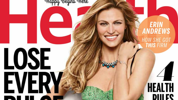 Erin Andrews is on the cover of this months Health magazine