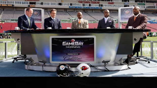 NFL TV set