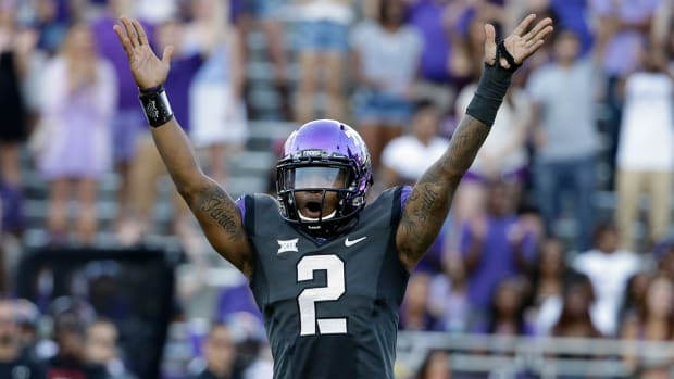 Watch: Trevone Boykin channels 'Willie Beamen' with flip into end zone - image