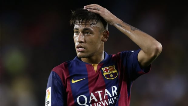 Barcelona star Neymar tries his hand at rapping