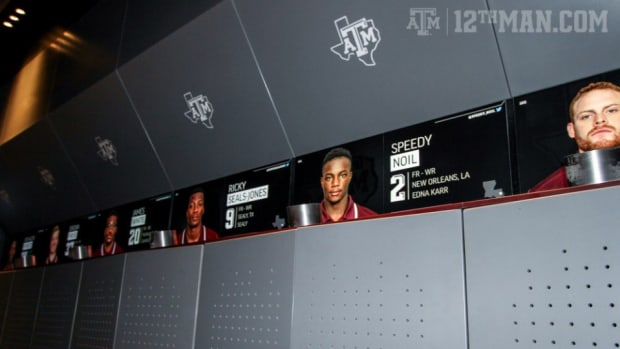 Texas A&M football locker room