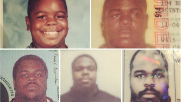 Patriots' Vince Wilfork shows off his ID photos through the years