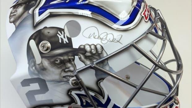 New York Rangers helmet features Derek Jeter, Frank Sinatra
