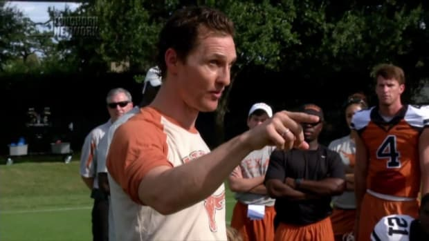 Matthew McConaughey gave an inspirational talk to Texas