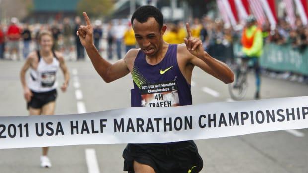 U.S. runner Mo Trafeh