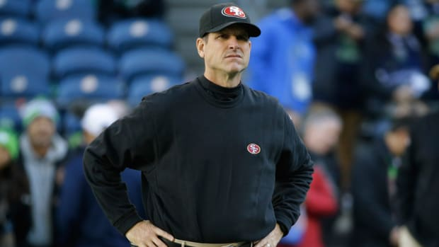 Jim Harbaugh 49ers Michigan torn