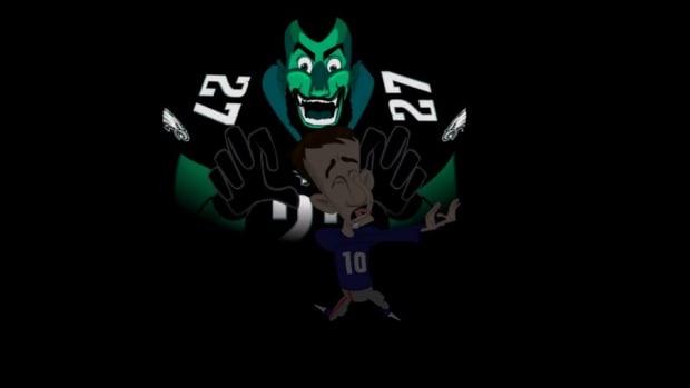 Eagles release cartoon mocking Giants Eli Manning