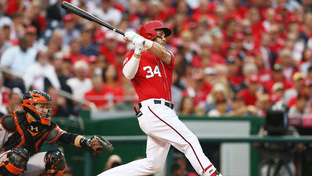 WATCH: Nationals' Bryce Harper sends home run into upper deck