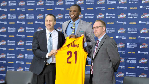 Andrew Wiggins was introduced by the Cavaliers.