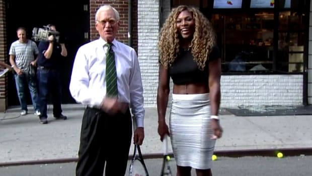 Serena Williams smashed a deli window with her forehand