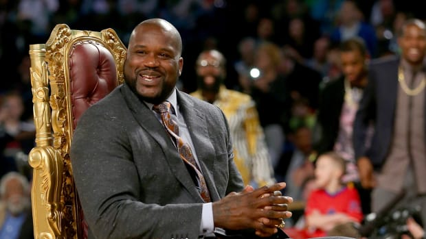 Watch: Shaq shoved into Christmas tree - image