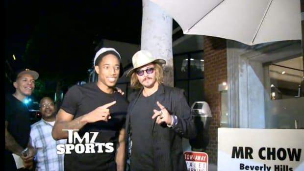 Raptors' DeMar Derozan fooled by Johnny Depp impersonator