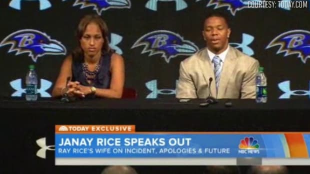 Ravens deny telling Janay Rice to apologize at May press conference IMAGE