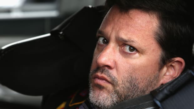 Tony Stewart out at Michigan Speedway