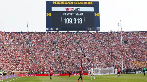 Man U Real Madrid Big House record crowd