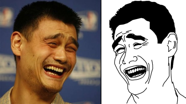 Yao Ming meets the 'Yao Ming Meme'