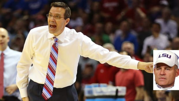 Nebraska coach Tim Miles explains he is not LSU coach Les Miles