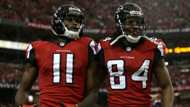 Falcons receivers Julio Jones and Roddy White