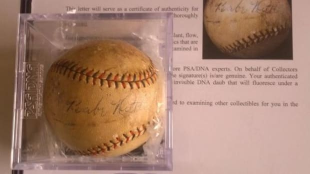 John Lackey bought Pat Neshek a Babe Ruth autographed ball for switching numbers