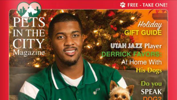 photo utah jazz derrick favors pets magazine