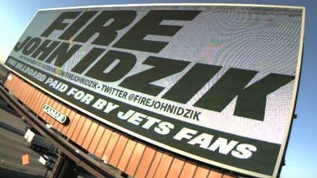 Jets fans put up 'Fire John Idzik' billboards in New Jersey