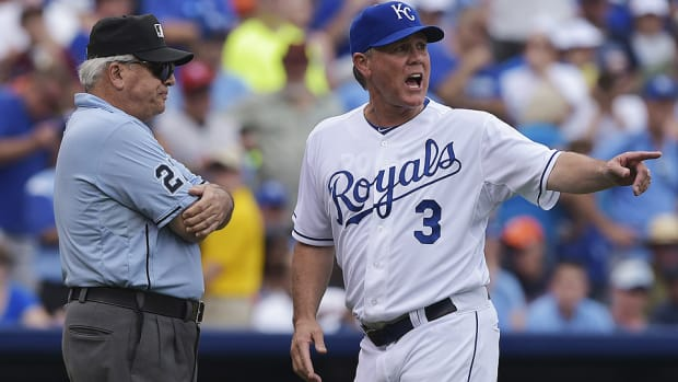 Ned Yost Royals Tigers instant replay