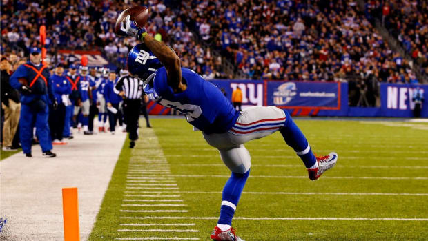 Odell Beckham Jr.'s ctach gets recreated by Jesse Palmer and David Pollack