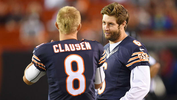 Jay Cutler Jimmy Clausen Bears