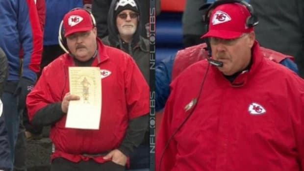 Andy Reid Lookalike attends Chiefs game