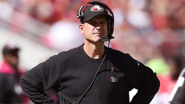 Jim Harbaugh 49ers coach