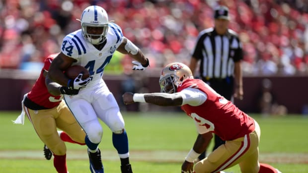 Colts running back Ahmad Bradshaw