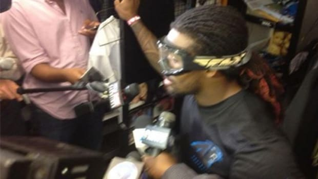Panthers running back DeAngelo Williams steve smith 2