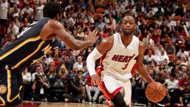 Dwyane Wade Miami Heat Indiana Pacers