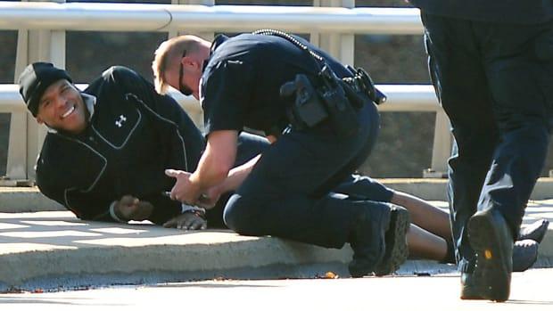 Carolina Panthers Cam Newton seat belt car crash