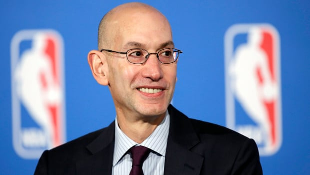 NBA Commissioner Adam Silver endorses sports gambling legalization IMAGE
