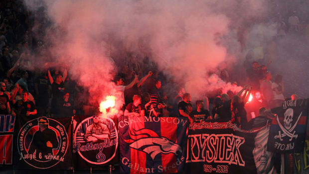 UEFA CSKA Moscow punishment fan violence racism