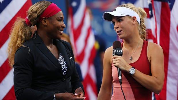 Serena Williams Caroline Wozniacki post match speech
