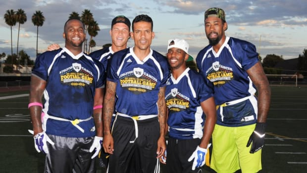 The Clippers showed up at a charity flag football game and tore it up