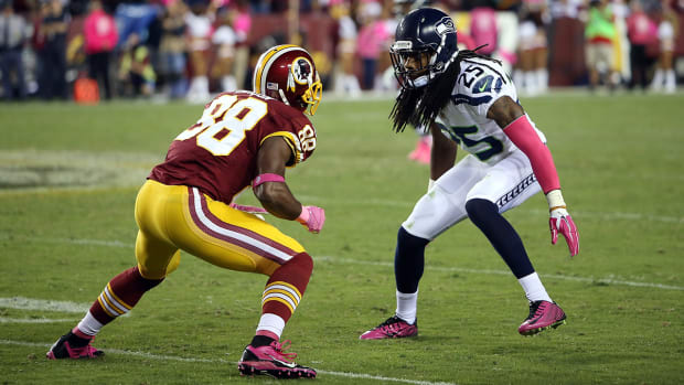 Richard Sherman says Pierre Garcon 'doesn't matter in this league'