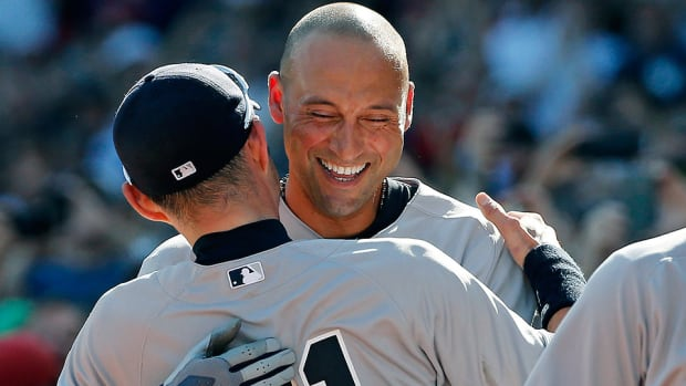 Derek Jeter exits final game Yankees Red Sox