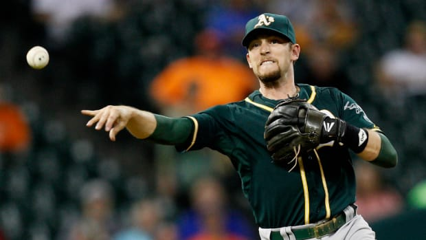 Athletics shortstop Jed Lowrie