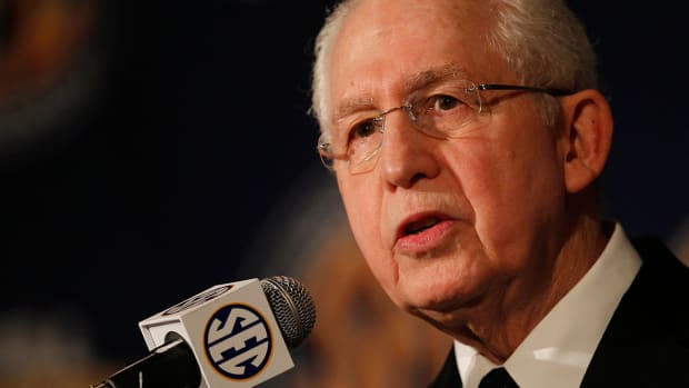 Who will replace Mike Slive as SEC commissioner?
