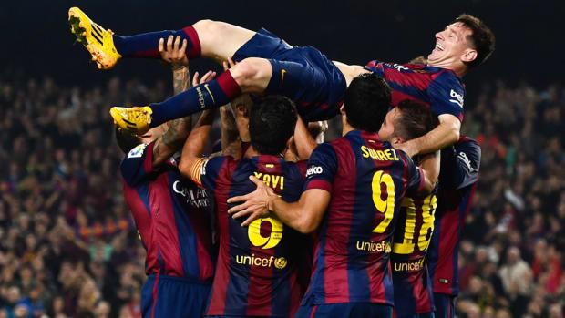 Messi record hat trick