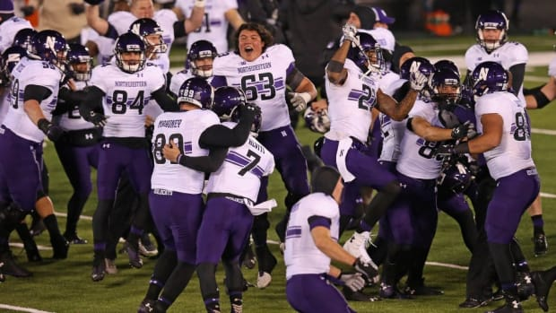 Northwestern players are very excited for Chick-Fil-A after victory