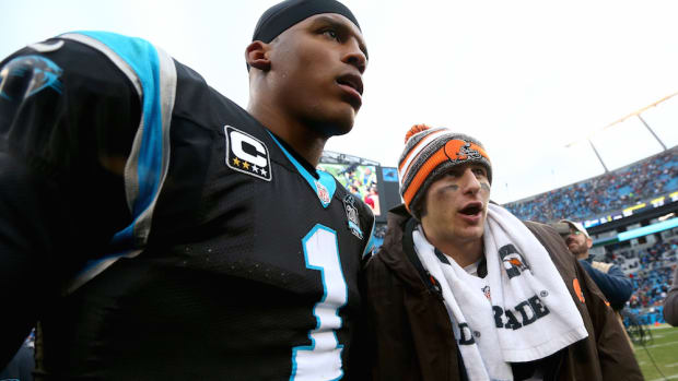 johnny manziel cam newton browns panthers