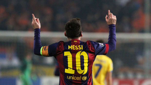 Messi sets Champions League goal-scoring record IMAGE