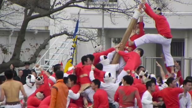Bo-Taoshi dangerous japanese pole sport
