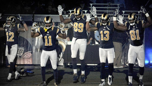 Right for NFL players to get involved with Ferguson 'Hands Up' gesture? - Image