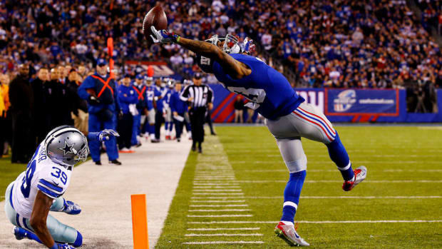 Odell Beckham Jr One Handed Catch New York Giants Dallas Cowboys