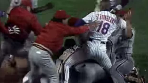 Daryl Strawberry Mets Phillies Fight